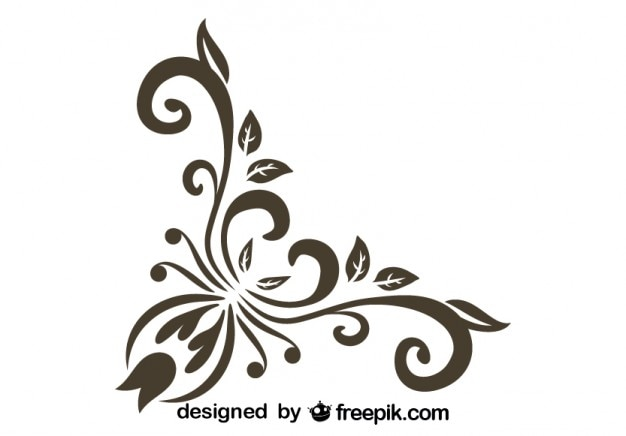 Stylish corner vintage graphic element