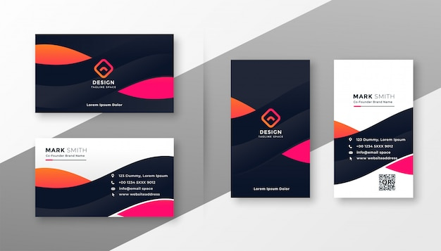 Stylish corporate card for your business