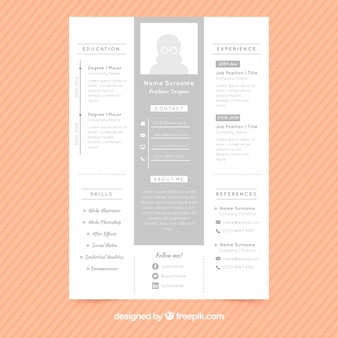 Stylish cv gray template