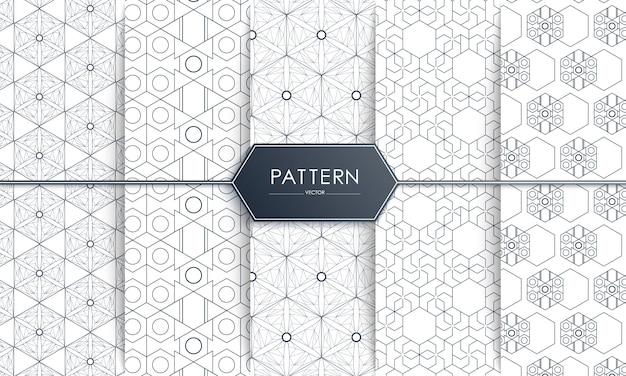 Stylish decorative fashion seamless pattern.
