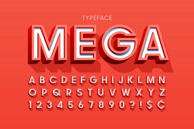 Stylish display font design