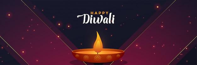 Stylish diwali banner design template