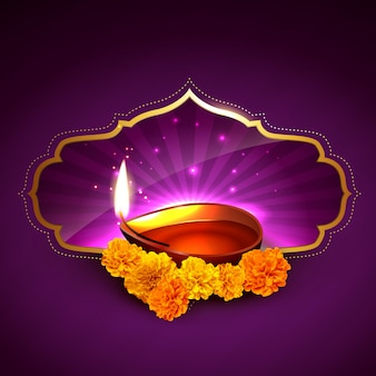 Stylish diwali beautiful background