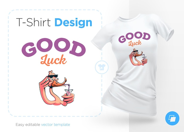 Стильная утка печать на футболках сувениры векторные иллюстрации на белом фоне