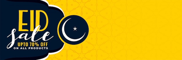 Stylish eid sale banner with copyspace