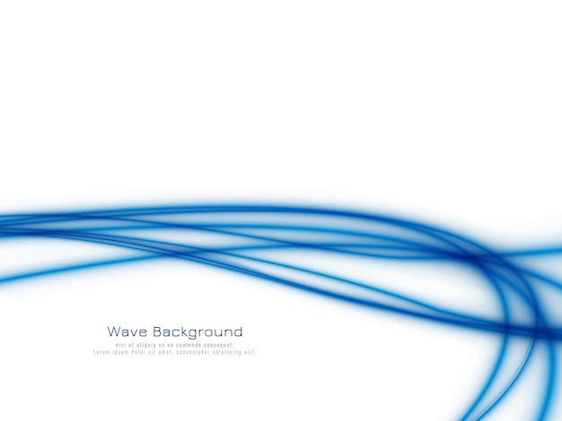 Stylish elegant blue wave background