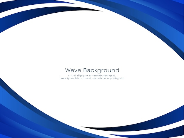 スタイリッシュでエレガントな青い波のデザインの背景ベクトル