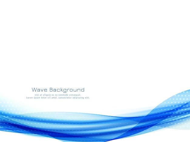 Elegante sfondo blu elegante disegno dell'onda
