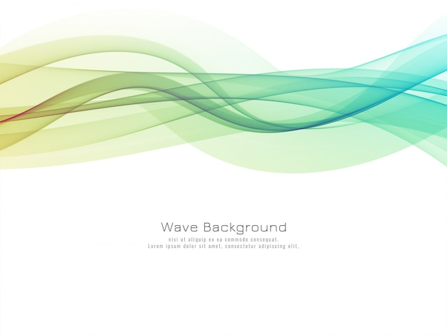 Stylish elegant colorful wave background