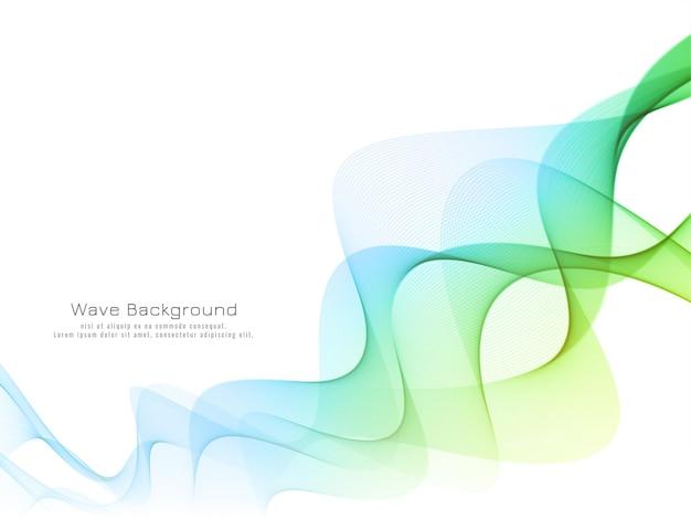 Stylish elegant colorful wave background