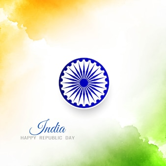 Stylish elegant indian flag background