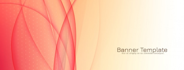 Stylish elegant wave banner design