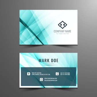 Stylish elegant wavy business card design
