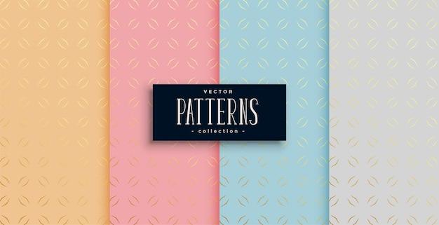 세련된 에스닉 골든 패턴 4 종 세트