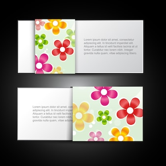 Stylish flower card design