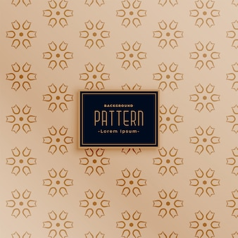 Stylish flower fabric seamless pattern