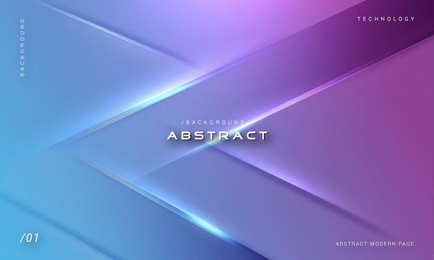 Stylish futuristic geometric light background