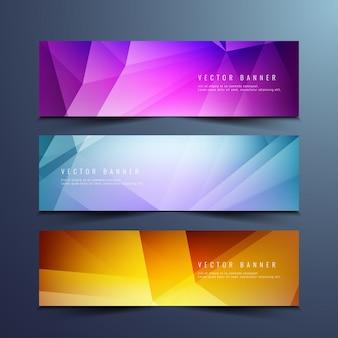 Stylish geometric banners design