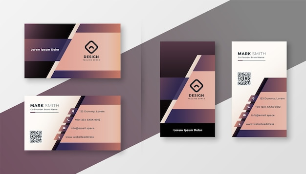 Stylish geometric creative business card design template