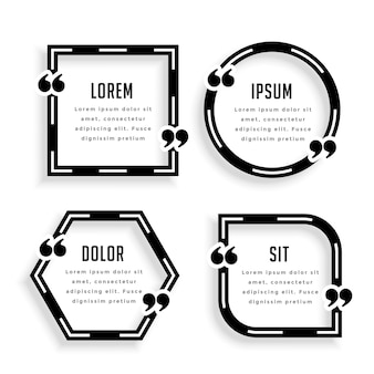 Stylish geometric quotation template design