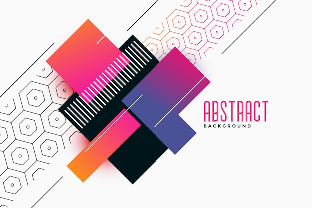 Stylish geometric vibrant shapes with pattern background