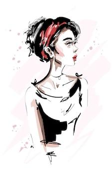 Стильная девушка