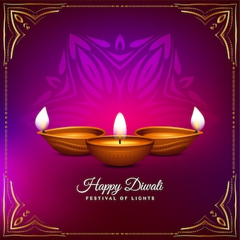 Стильный глянцевый фон приветствия фестиваля happy diwali