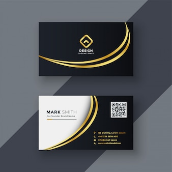 Stylish golden creative business card design