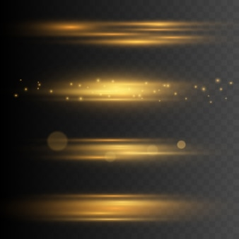 Stylish golden light effect.