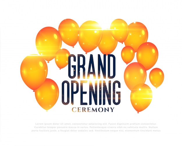 Stylish grand opening balloons