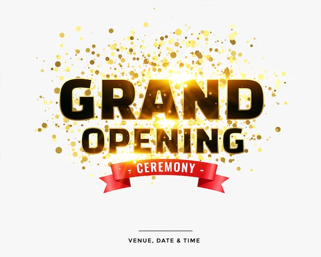 Stylish grand opening ceremony template