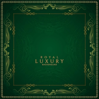 Stylish green color luxury background design