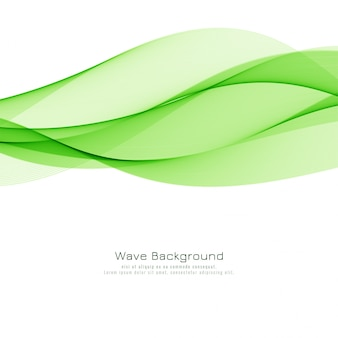 Stylish green wave background
