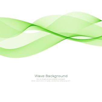 Stylish green wave background