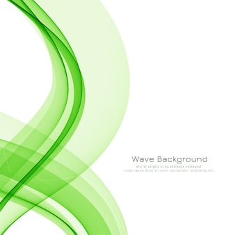 Stylish green wave elegant background