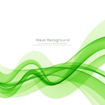 Stylish green wave vector background