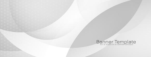 Stylish grey color elegant wave style banner