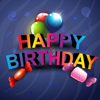 Stylish happy birthday background design
