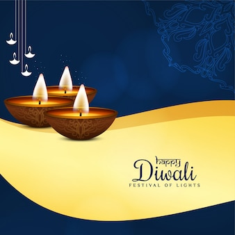 Stylish happy diwali festival greeting