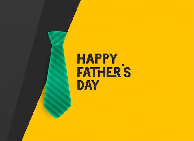 Stylish happy fathers day tie