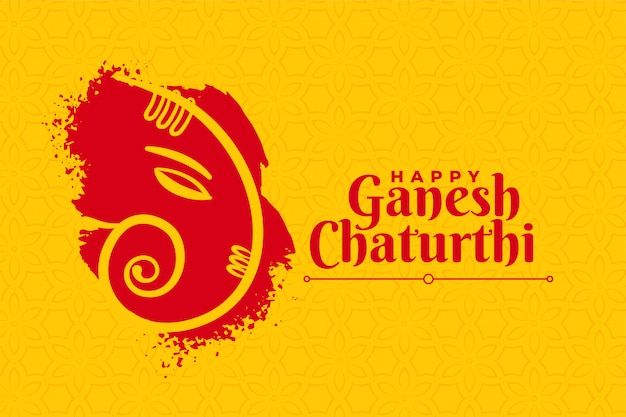 Stylish happy ganesh chaturthi creative card design