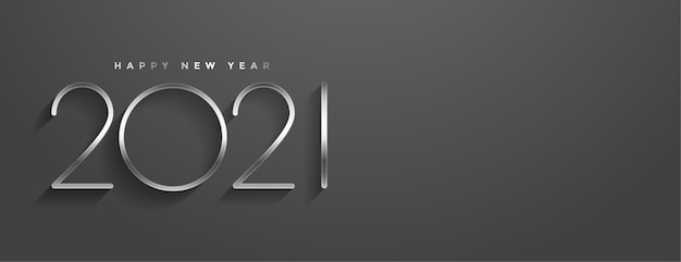 Stylish  happy new year minimal style banner