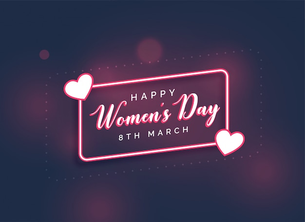 Stylish happy women's day lovely background