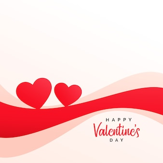 Stylish hearts and wave background for valentine's day