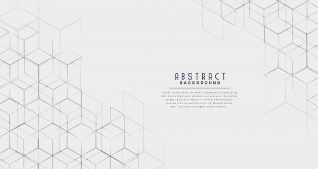 Stylish hexagonal line abstract background