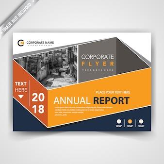 Stylish horizontal brochure cover