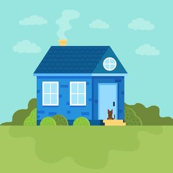 하늘과 환경의 다른 요소에 대한 세련된 집
