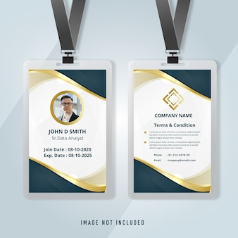 Stylish id card corporate business template
