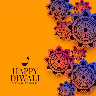 Stylish indian decorative pattern for diwali festival