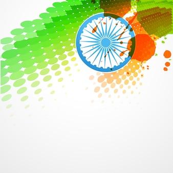 Disegno elegante bandiera indiana bandiera